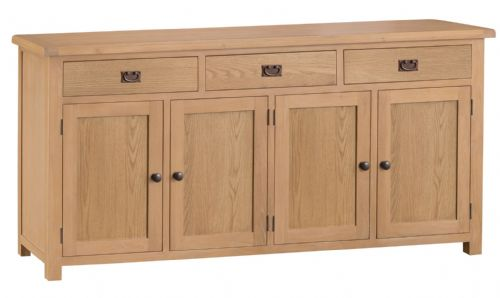 Cornish Oak 4 Door Sideboard